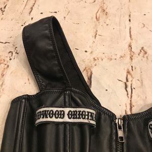 Undergirl Tops - Sons of Anarchy Pleather Corset w/ Chain